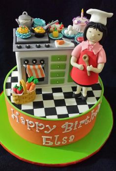 Bday cake for our dear friend elsa who always prepare n cook for all of us at church