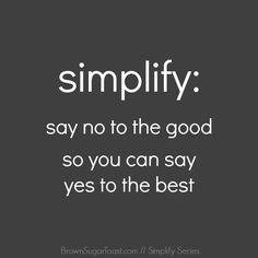 day #2~  Simplify Series // a 31 day journey via BrownSugarToast.com