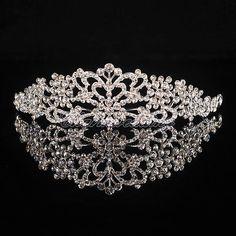 Silver Wedding Bridal Bridesmaid Prom Crystal Rhinestone Tiara Crown Headband
