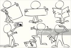 Character drawn in pencil and ink, illustrated to be in vector. Drawing Reference Poses, Drawing Poses, Character Drawing, Character Design, Sign Language Chart, Animation Classes, Drawing Cartoon Faces, Business Cartoons, Sketch Notes