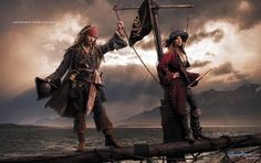 Johnny Depp plays Captain Jack Sparrow and singer Patti Smith plays a pirate in Annie Leibowitz's Disney Dream Dream Portraits series.