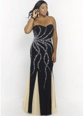 Blush 9973W Beaded Jersey Plus Size Gown