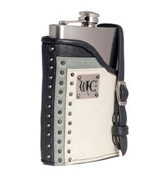 Wild Card Stealth Garter Flask - Black/Cream/Grey   Delicious Boutique