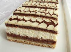 Citromhab: Túrós zserbó Hungarian Desserts, Hungarian Cake, Hungarian Recipes, Cold Desserts, Easy Desserts, Ital Food, Cookie Recipes, Dessert Recipes, Tasty Chocolate Cake