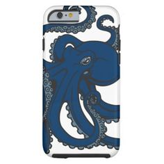 Navy Blue Octopus Tough iPhone 6 Case