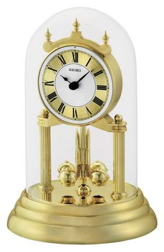 Found it at Clockway.com - Seiko Acton Anniversary Clock Glass Dome Rotating…
