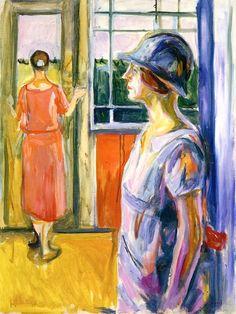 Edvard Munch ~ Two Women on the Verandah, 1924