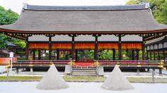 京都上賀茂神社の細殿と立砂