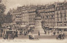 La place de Clichy, très animée, vers 1910.