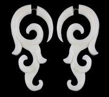 bone horn earrings