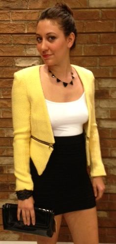 Blazer by Lush with Skirt by Tees by Tina ~ Urban Expressions Clutch ~ Apricot Lane Boutique South Florida