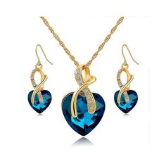 d4bd2880c Long Way Austrian Crystal Fashion Heart Jewelry Sets Necklace Earrings  Wedding Our Jewelry are made of Genuine high-grade Material, as long as the  proper ...