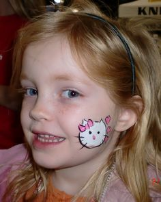 Cheek Art, Face Paint, Hello Kitty, Face Painting Illusions and Balloon Art Face Painting Images, Face Painting Designs, Body Painting, Face Paintings, Paint Designs, Painting Art, Homemade Face Paints, Homemade Paint, Hello Kitty Face Paint