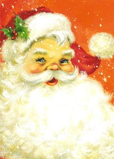 vintage Christmas Card Santa Claus