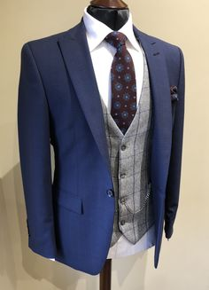 Wedding Suit Hire For Men & Tailoring – [pin_pinter_full_name] Wedding Suit Hire For Men & Tailoring Slim fit Blue check suit Blue Suit Grey Waistcoat, Tweed Waistcoat, Summer Wedding Suits, Wedding Suit Hire, Wedding Dresses, Blue Check Suit, Mens Suits Near Me, Designer Suits For Men, Checked Suit