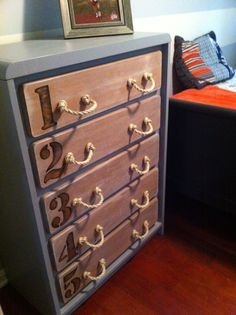 Got This Idea From Another On Pinterest Used To Be A Plain Oak Dresser
