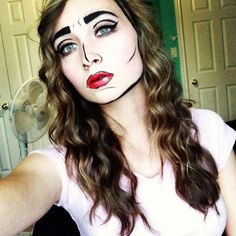 Pop Art Princess - 18 Cheap and Creative Halloween Makeup Ideas to Scare Your Friends