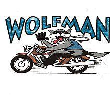 Wolfman wolf biker riding a motorcycle drawing by Tom S, Biker, Wolf, Garage, Motorcycle, Drawings, Design, Art, Craft Art