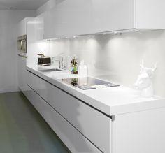 Glazen achterwand keuken op maat bij A&A glashandel - Op maat een glazen keuken achterwand