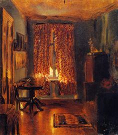 The Artist's Room in Ritterstrasse Adolph von Menzel - 1851