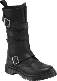 Dr. Martens Lauren Calf Strap Boot women's calf boots (Black)