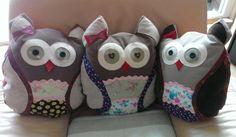 Unsere Leserin Angelika hat aus Stoffresten diese tollen Eulenkissen gemacht. Wir zeigen euch wie es geht. #DIY #doityourself #tutorial #eulen #kissen #nähen #basteln #owls