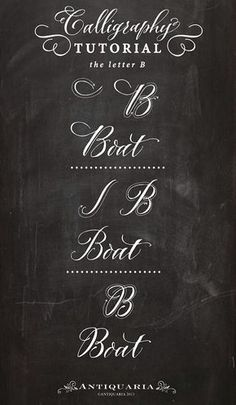 Calligraphy Tutorial • Letter B