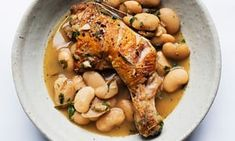 chicken with butterbeans and rosemary.