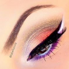 labella2029 add's a little color #mua #eyes #color