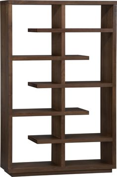 "Elevate Walnut 68"" Bookcase    http://www.crateandbarrel.com/furniture/room-dividers/elevate-walnut-68-bookcase/s232452"