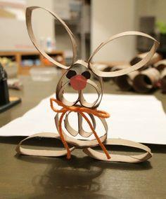 osterdeko selber machen osterhase papier kreatives basteln