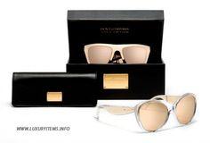2012 Dolce & Gabbana Gold Sunglasses