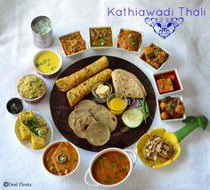 Desi Fiesta : Kathiawadi Thali |Gujarati Thali |Gujarati Bhano