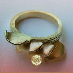 FLORENCIA GARGIULO-AR-Anillo de oro amarillo de 18K...set of stacking rings