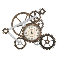 Southern Enterprises Gear Wall Clock - Pay homage to the industrial revolution with the Southern Enterprises Gear Wall Clock . This stylish wall…