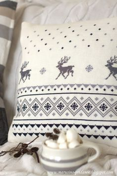 1000 images about embroidery deer on pinterest reindeer cross