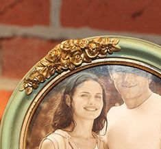 SIKOO Vintage Picture Frame Green Family Round Photo Frame for Home Decoration Round Picture Frames, Vintage Picture Frames, Vintage Pictures, Tattoo, Decoration, Green, Artwork, Home Decor, Vintage Photo Frames