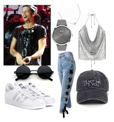"""""""Louis Tomlinson"""" by cantandwont ❤ liked on Polyvore featuring Sans Souci, adidas Originals, Minnie Grace and BOSS Black"""