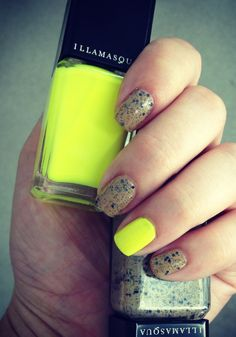 Experiment with color: Try an adventurous hue on your accent nail!