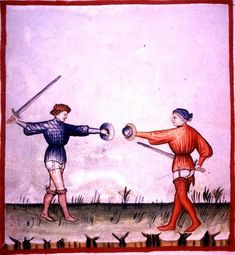 Italian 15th-16th  century longsword and buckler