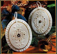 Pattern to Make BEAUTIFUL HARDANGER CHRISTMAS ORNAMENTS ~ C.S. PATTERN | eBay