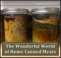 World of Home Canned Meats ~ good article and information just don't go by picture as it looks disgusting