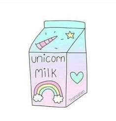 Imagen de unicorn, milk, and rainbow