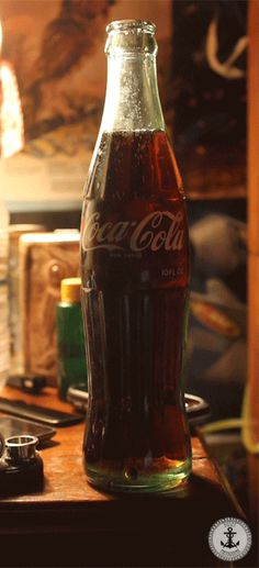 coca cola in glass bottle