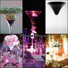 VASE MARTINI 70CM - VENTE Passion Decor, Vase Transparent, Wedding Themes, Table Decorations, Tableware, Glass, Ideas, Flower Ball, Unique Home Decor