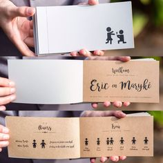 Ceremony & Reception booklets  in black text on liner board