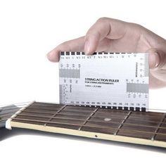 Guitarra Eléctrica acústica de Cuerdas de Acción Acero Gobernante Gauge Luthier Herramienta de Configuración en/mm para el Bajo La Guitarra caliente del envío libre
