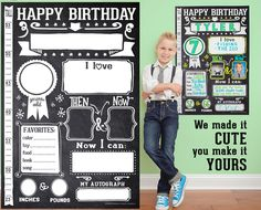 Birthday Poster. Love this way to celebrate a special day!