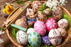 Easter Eggs puzzle in Puzzle of the Day jigsaw puzzles on TheJigsawPuzzles.com. Play full screen, enjoy Puzzle of the Day and thousands more.