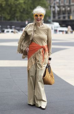 Rita Hammer | On her way to Fashion Week in NYC.